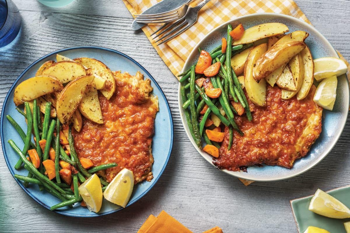 Cheesy Red Pesto Chicken Melts Recipe Hellofresh