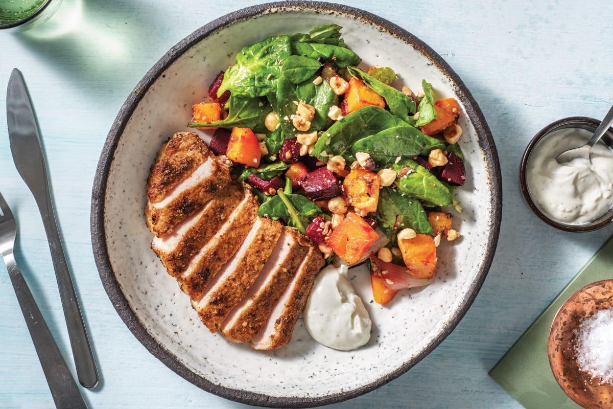 Chermoula Spiced Pork & Roasted Veggies