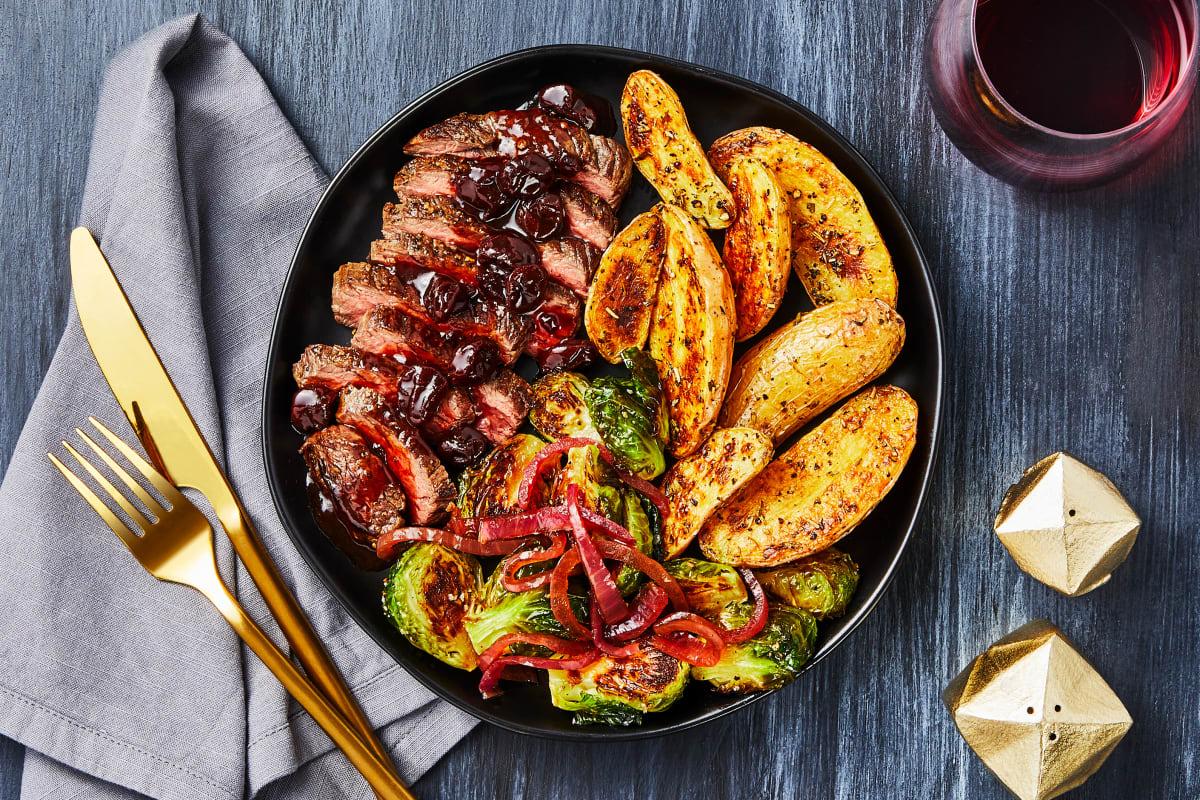 Cherry Balsamic Bavette Steak
