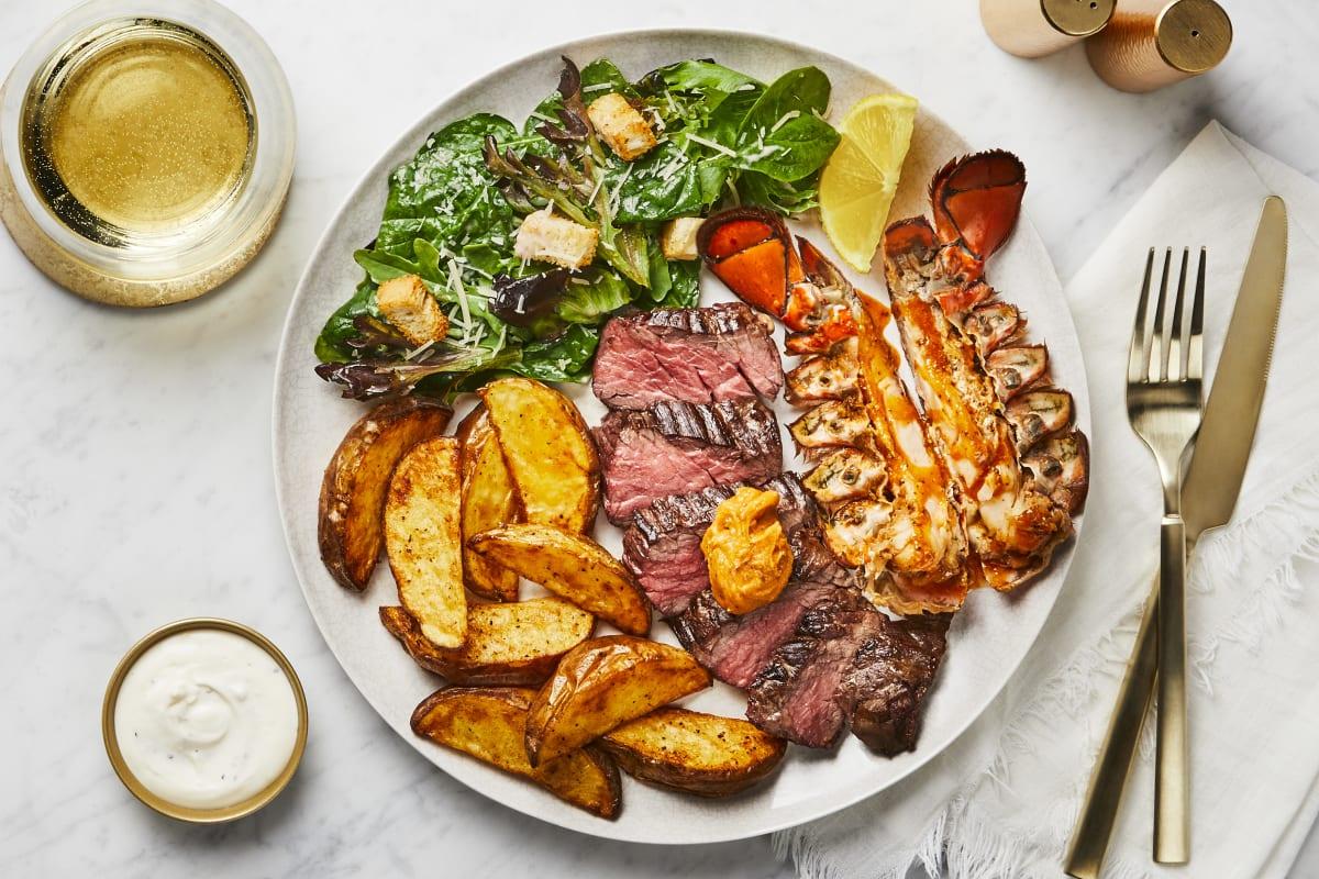 Chesapeake Steak & Lobster Tail Recipe ...