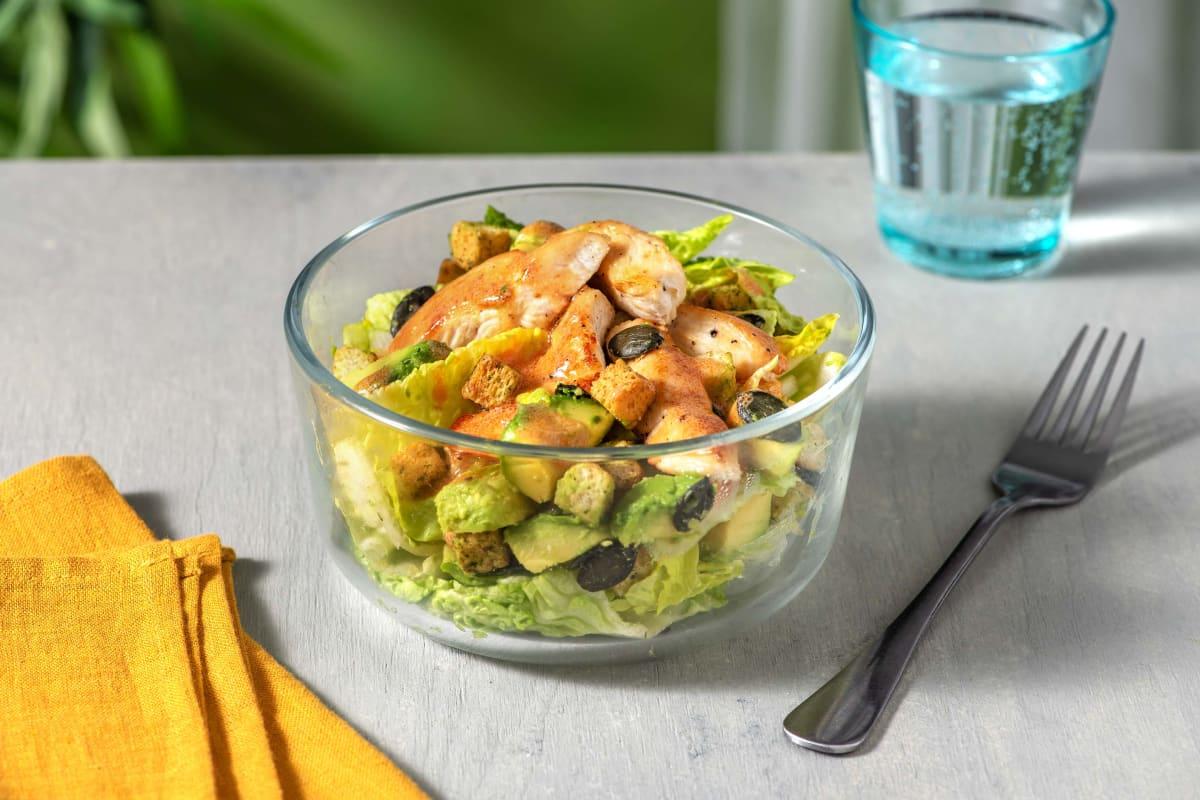 Chicken & Avocado Salad with Croutons & Pumpkin Seeds