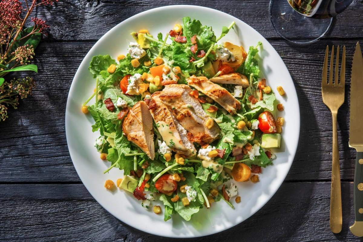 Chicken and Bacon Cobb Salad on Baby Kale