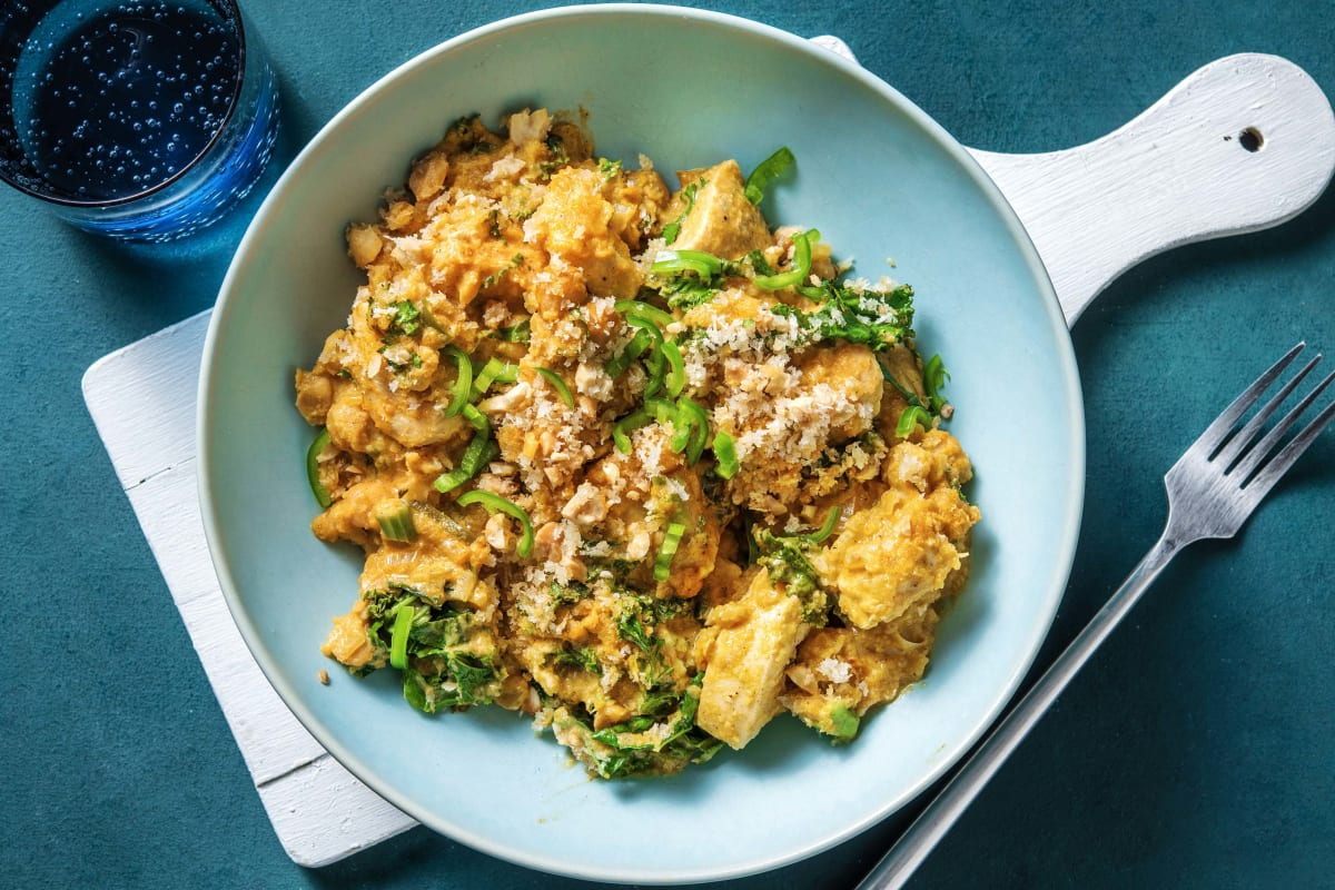 Chicken and Chickpea Korma Crumble