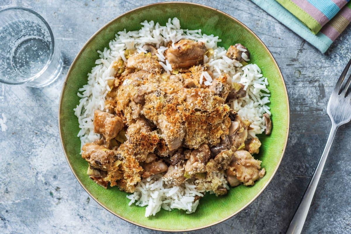 Chicken and Mushroom Crumble