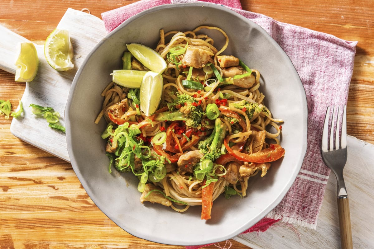 Chicken and Peanut Butter Noodles