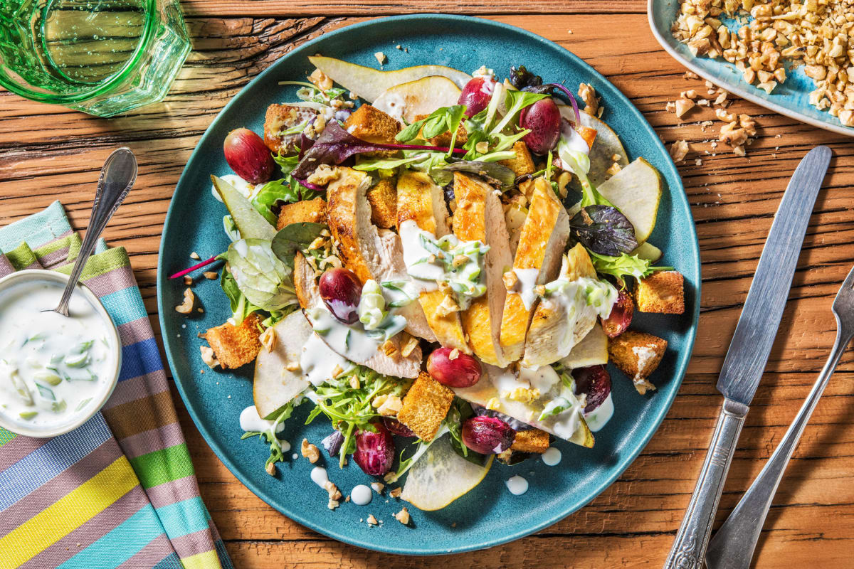 Chicken and Pear Waldorf Salad