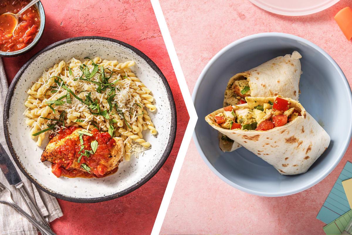 Chicken and Pesto Pasta for Dinner