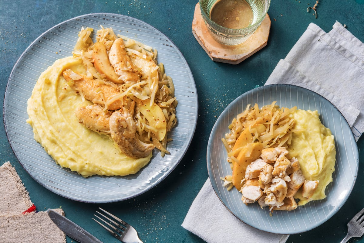 Chicken, Cabbage and Apple Fricassee