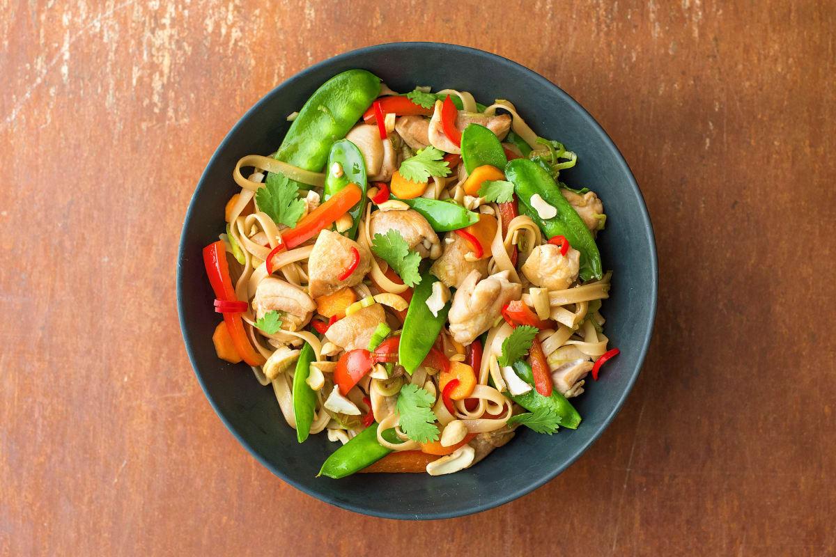 Chicken & Cashew Noodle Stir-Fry