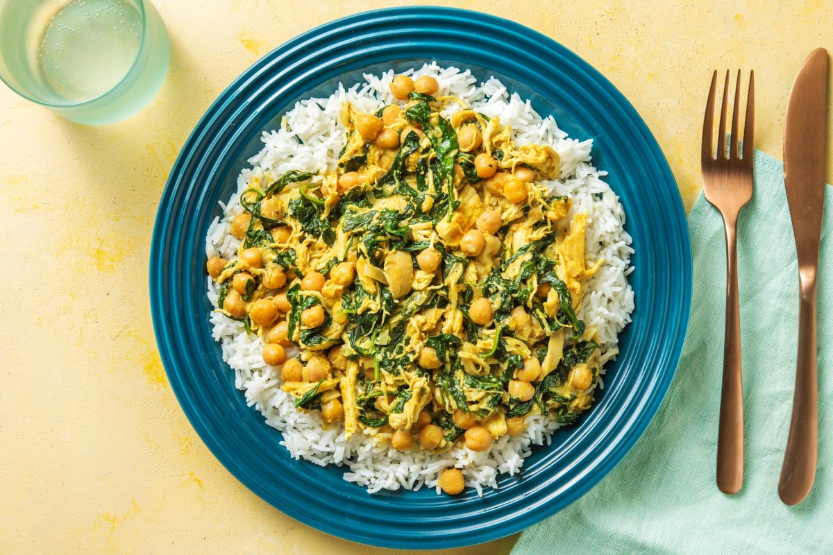 Chicken, Chickpea and Spinach Korma