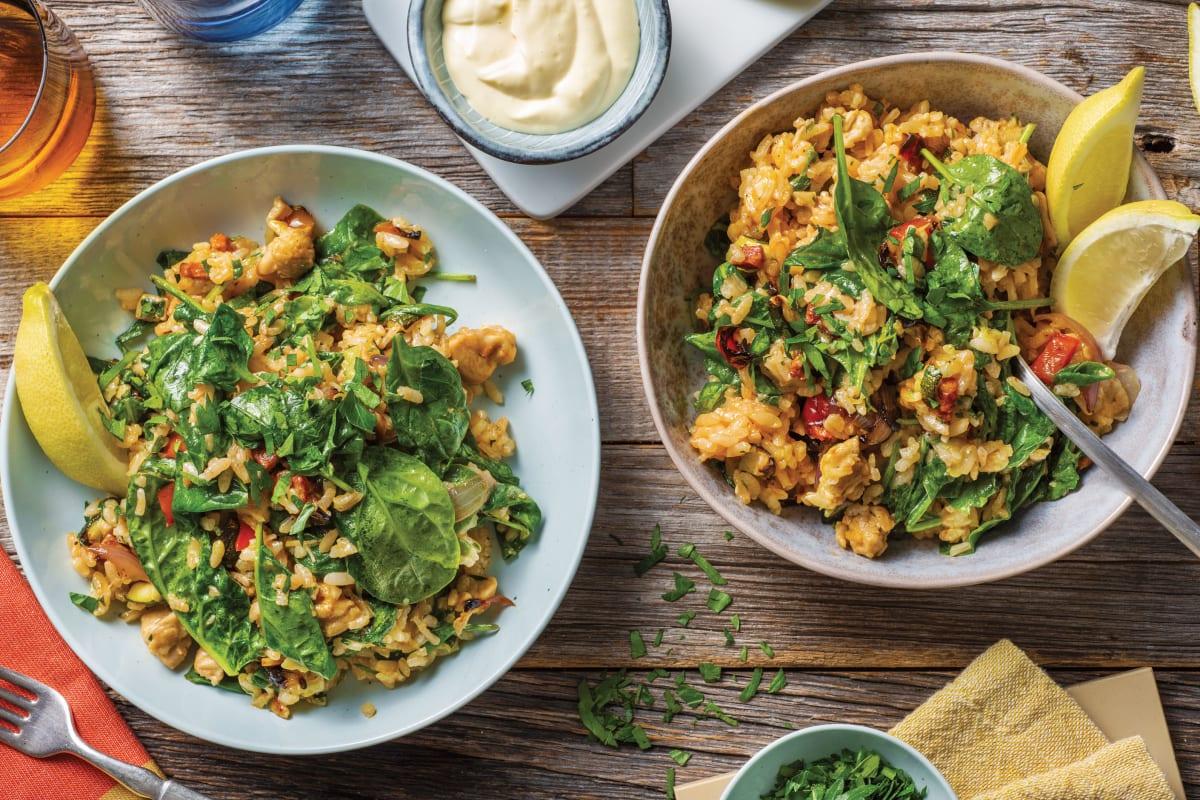 Chicken & Chorizo Paella-Style Rice