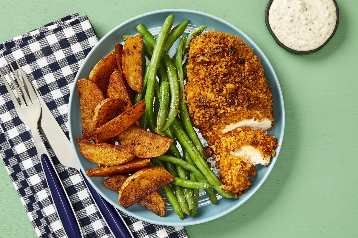 Chicken Cutlets with Spiced Walnut Crust