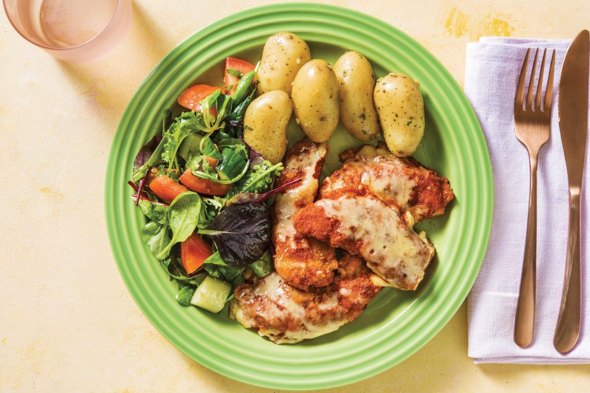 Chicken Parmigiana & Garlic-Herb Potatoes