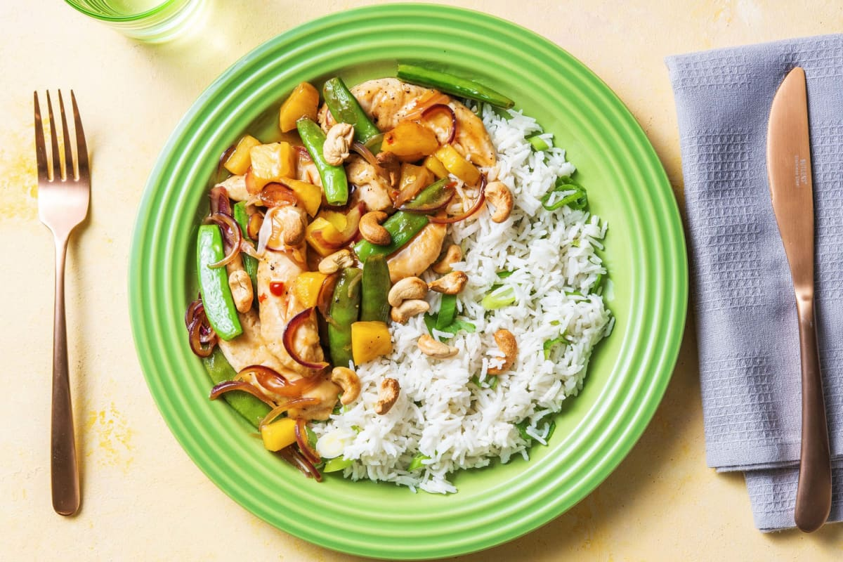 Chicken, Snap Pea and Pineapple Stir-fry
