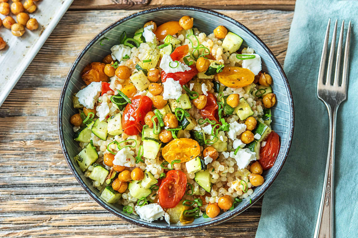 Chickpea-Powered Mediterranean Couscous