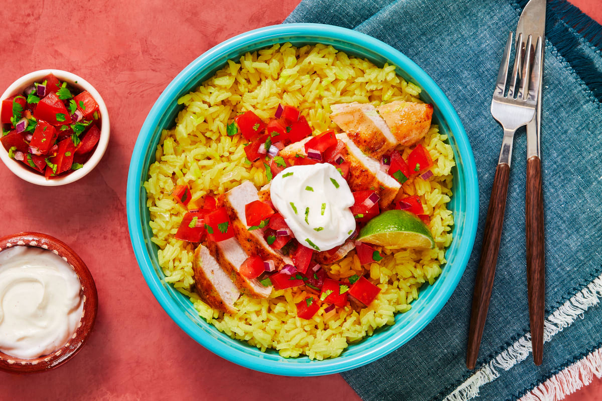 Chipotle Chicken and Savory Yellow Rice