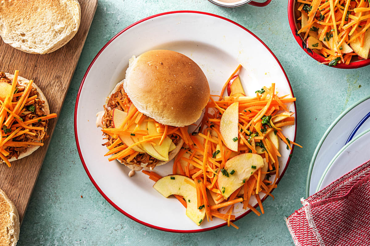 Chipotle Pulled Chicken Sandwiches