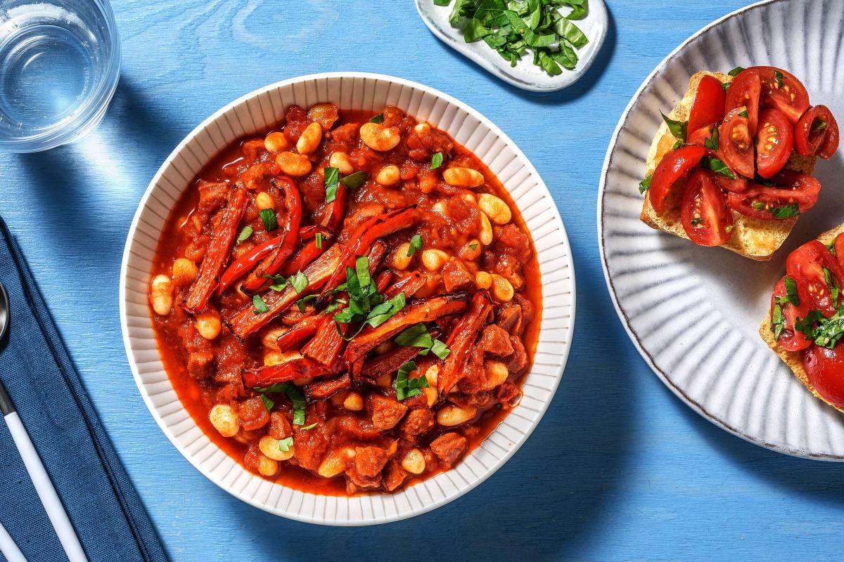 Chorizo and Cannellini Bean Stew