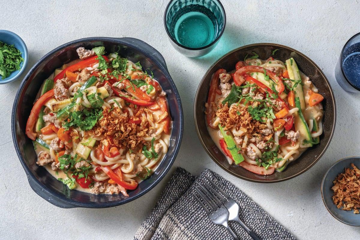 Saucy Sweet Chilli Pork & Udon Noodles