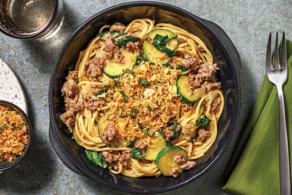 Creamy Beef & Courgette Spaghetti