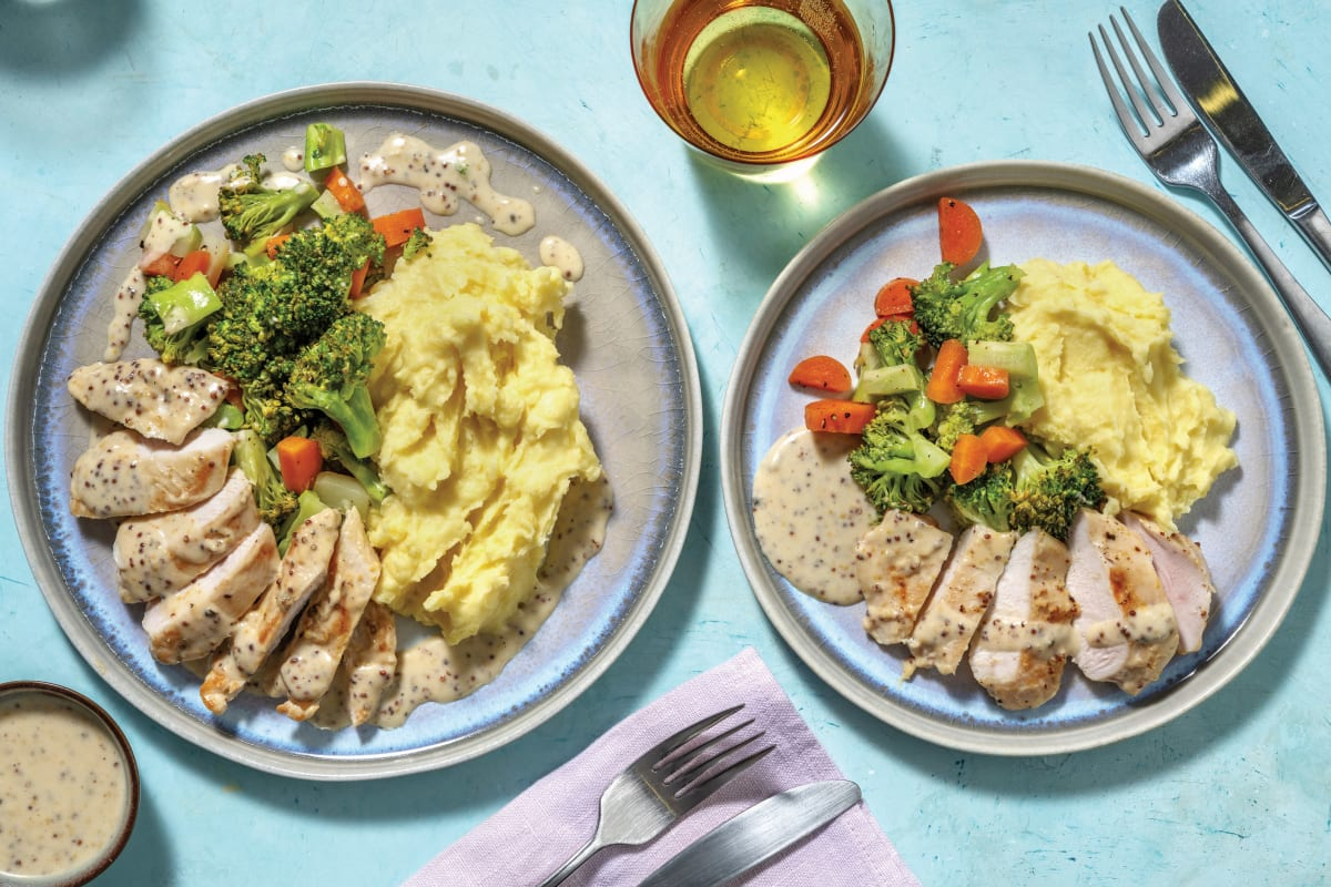 Creamy Honey Mustard Chicken Recipe Hellofresh