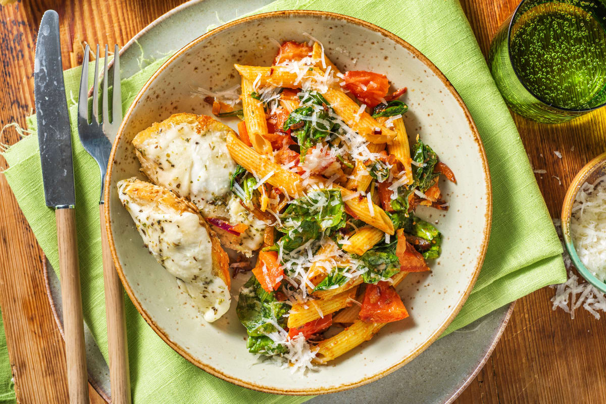 Creamy Sun-Dried Tomato and Spinach Penne