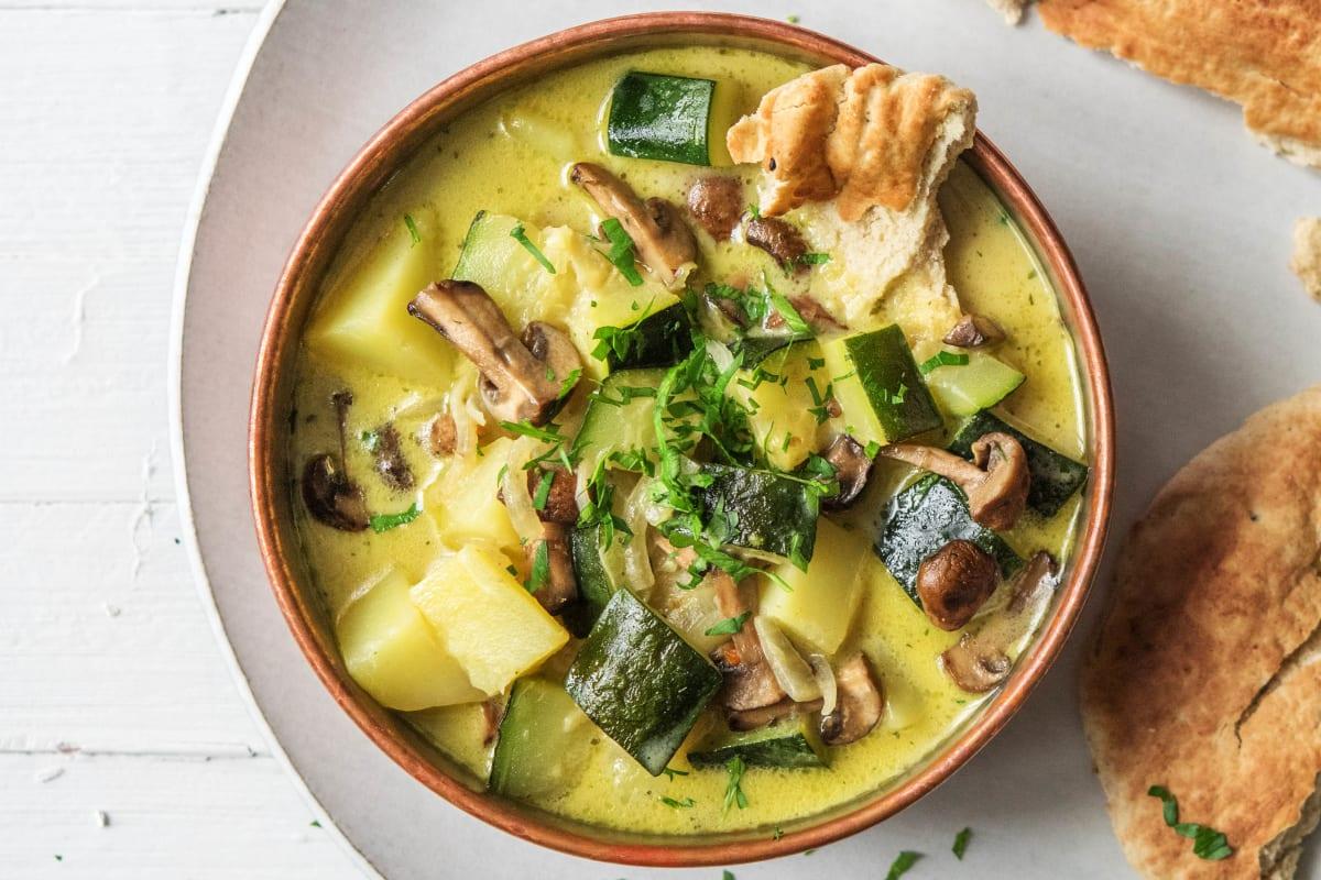 Gemüse curry mit kokosmilch