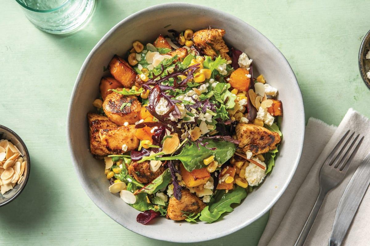 Creole Chicken & Roast Pumpkin Salad