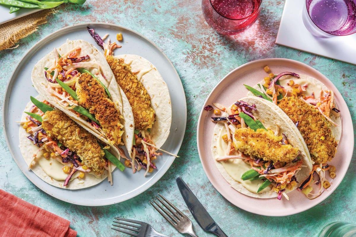 Crispy Chicken Tender Tacos