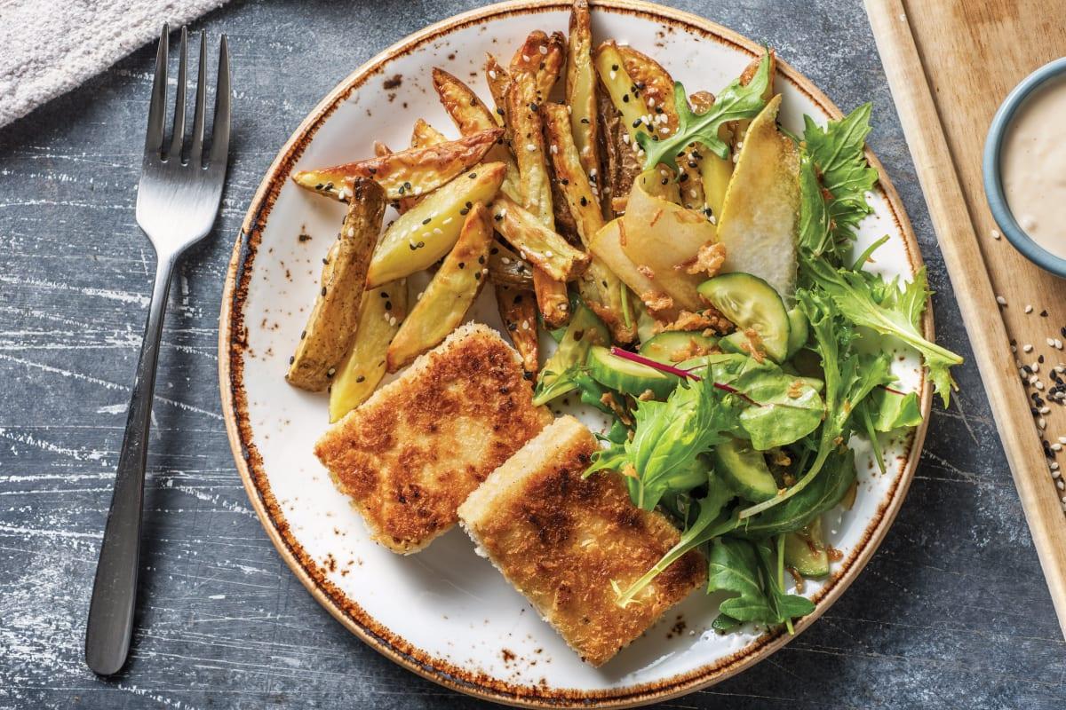 Crumbed Tofu Schnitzel