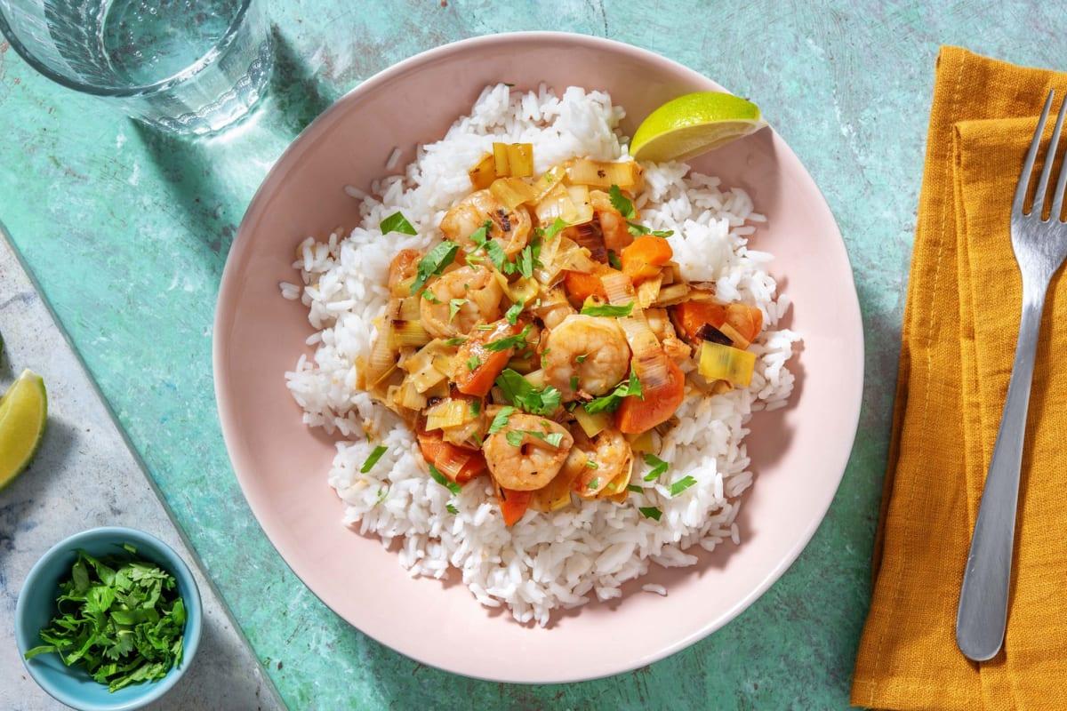 Curry de crevettes au vadouvan