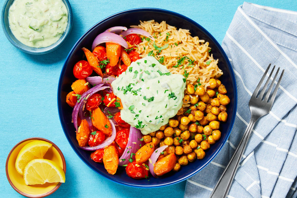 Curry-Spiced Chickpea Bowls