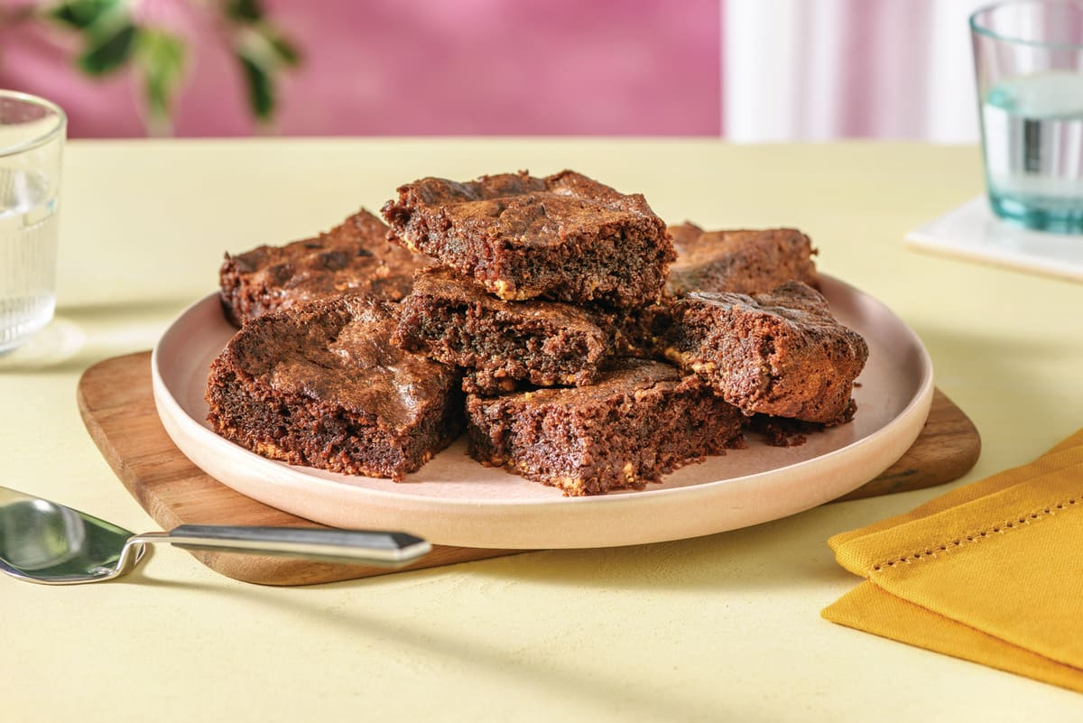 Chocolate Brownies with Chocolate Chips