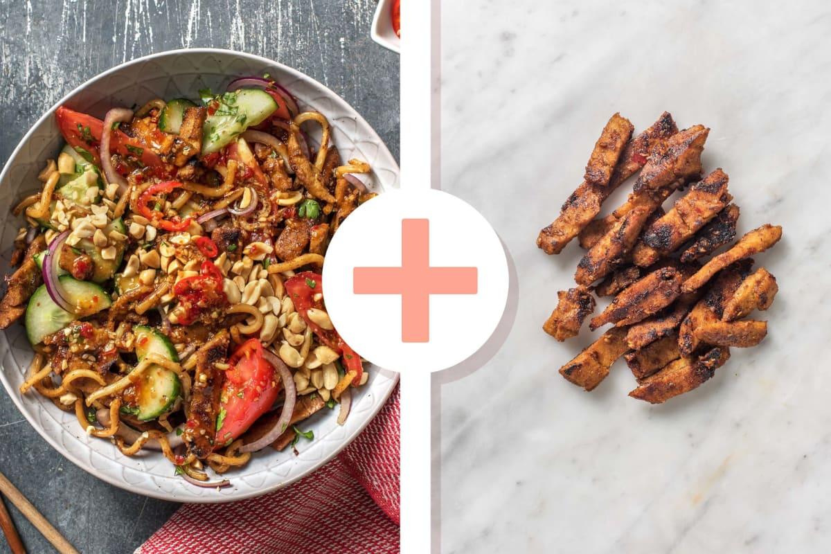 Double Protein - Thaise salade met udonnoedels en koriander