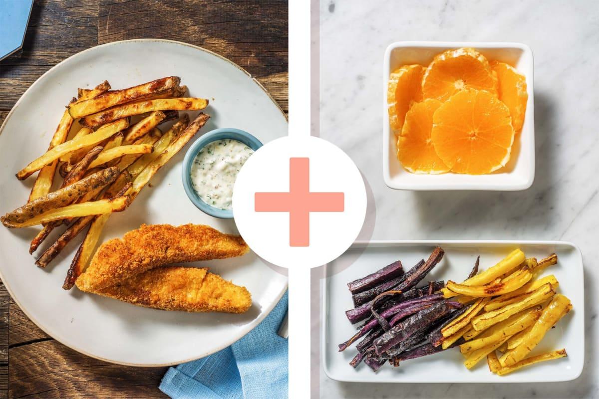 Fish & chips met ravigotesaus en frisse salade