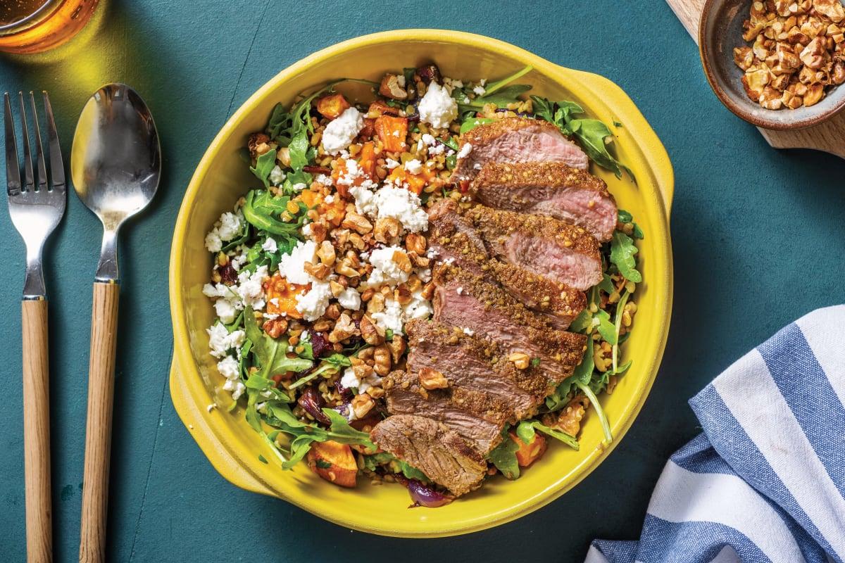 Dukkah-Crusted Lamb & Freekeh Salad
