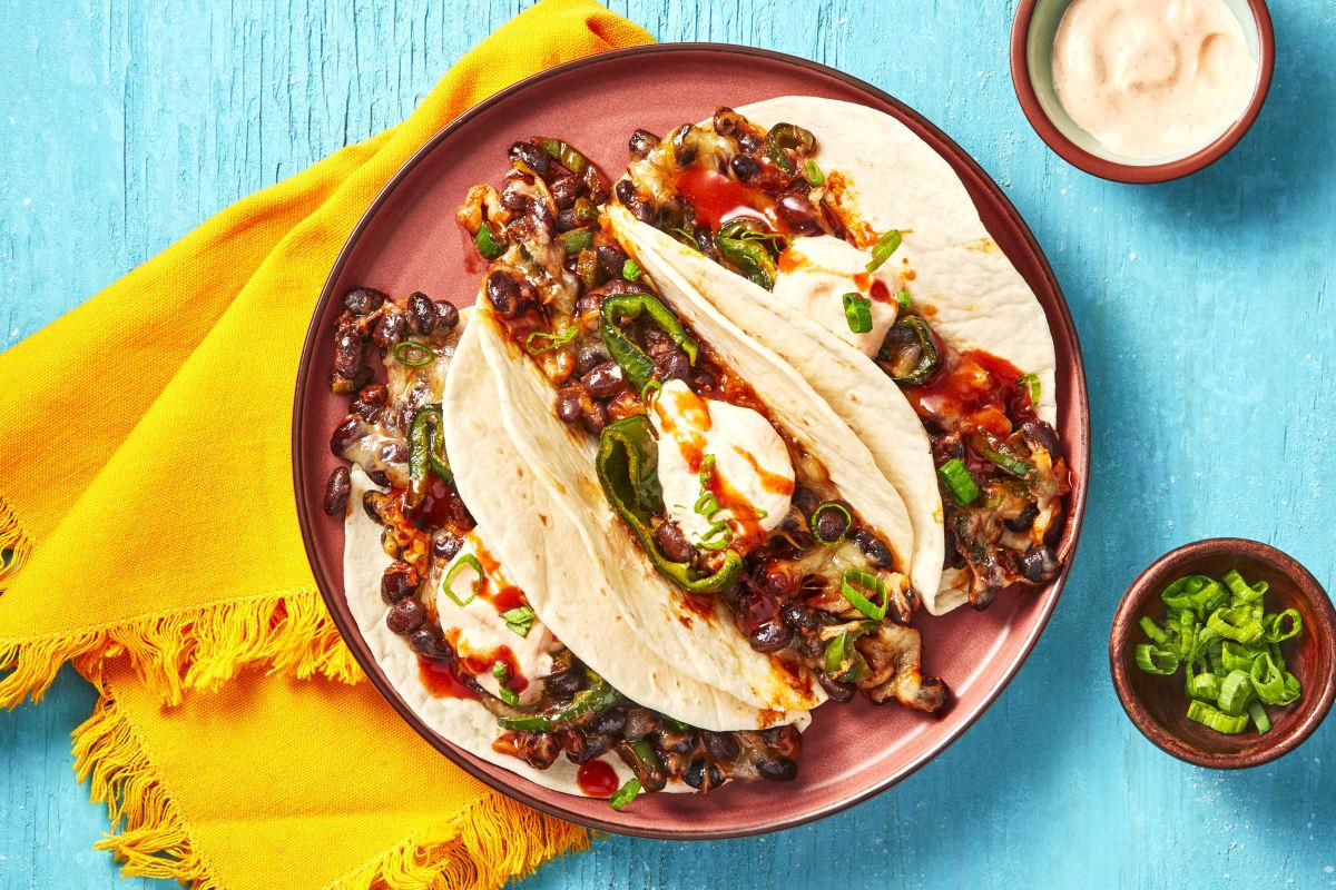 Easy Cheesy Black Bean Tacos