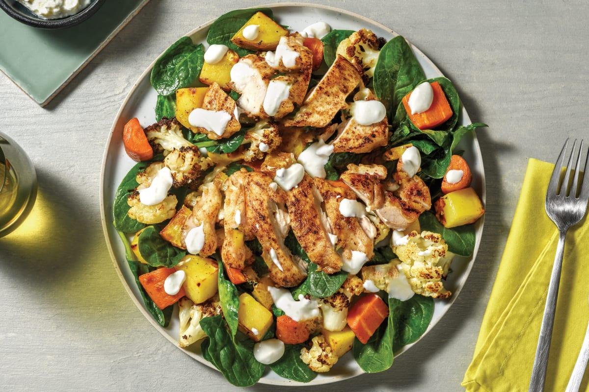 Easy Sri Lankan Chicken & Roast Veggie Salad