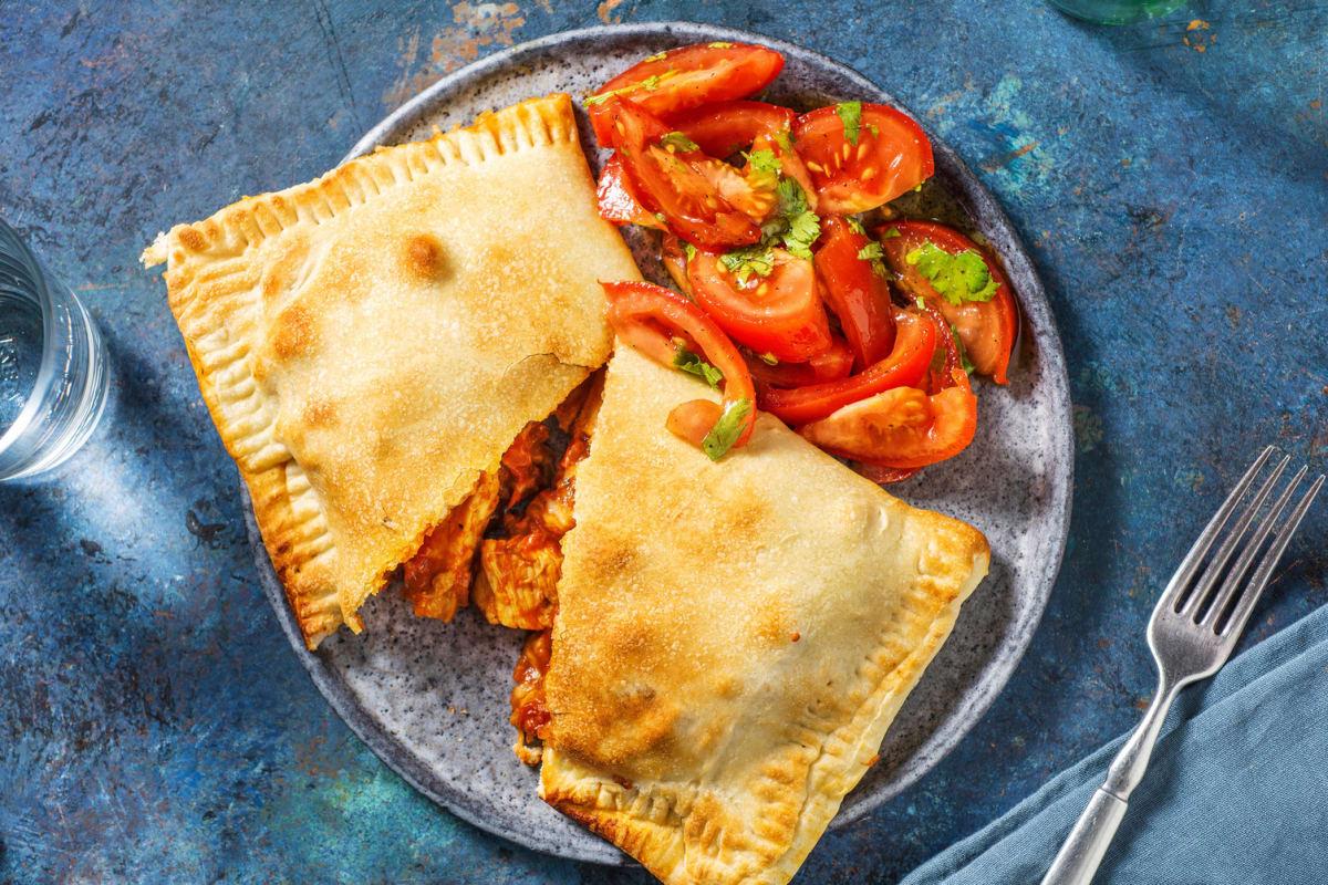 Kip-empanada's met cheddar