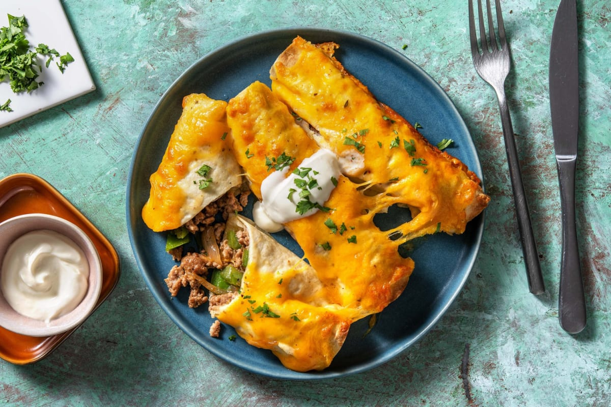 Cheesy Pork Enchiladas and DIY Enchilada Sauce