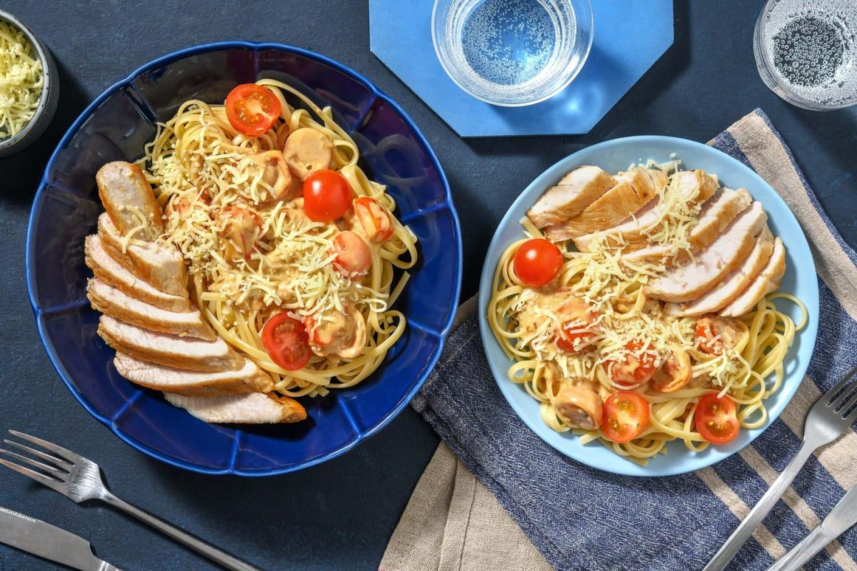 Escalope de dinde et crème de tomates cerises