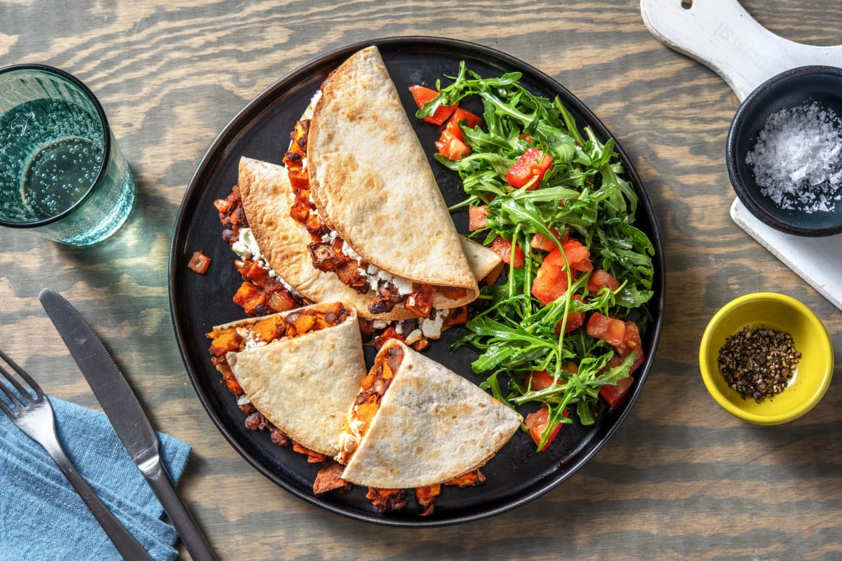 Feta and Sweet Potato Quesadillas