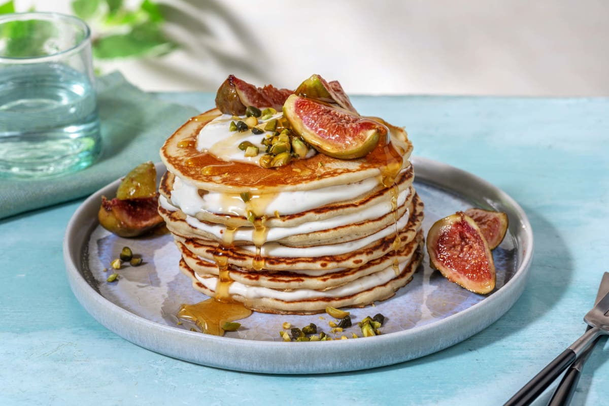 Buttermilk Pancakes and Honey Roasted Figs