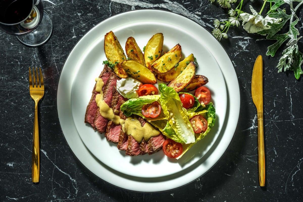Filet mignon met peterselie-knoflookaardappelen