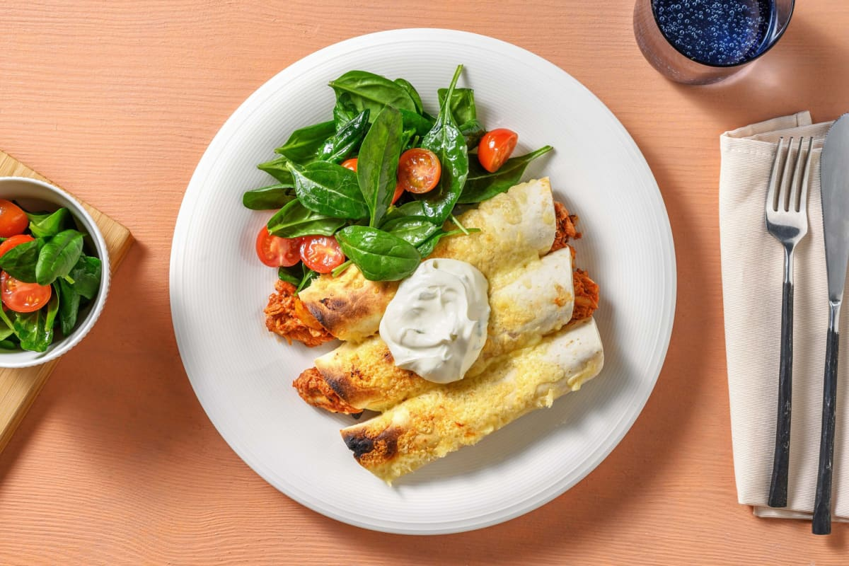 Roasted Chicken And Cheese Flautas Recipe Hellofresh