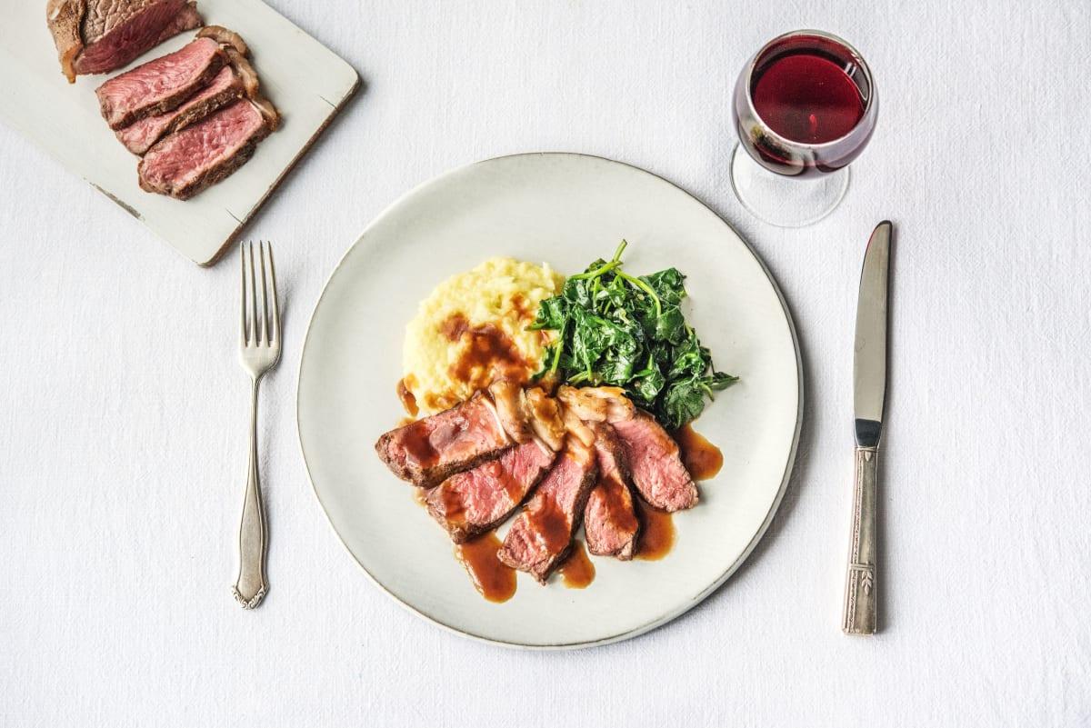 Strip Steak Florentine