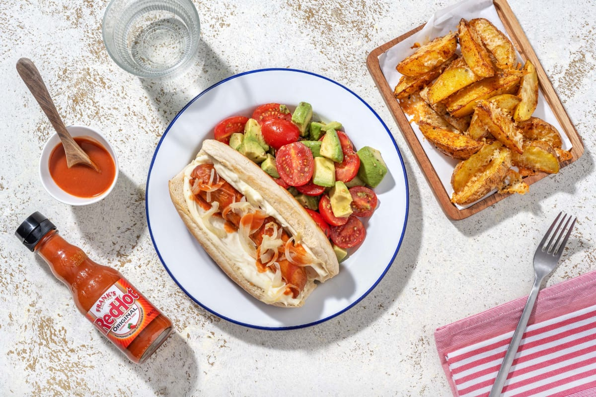 Frank's RedHot Sauce Drizzled Hot Dogs