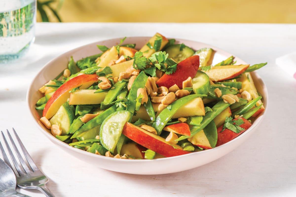 Asian Snow Pea, Cucumber & Apple Salad