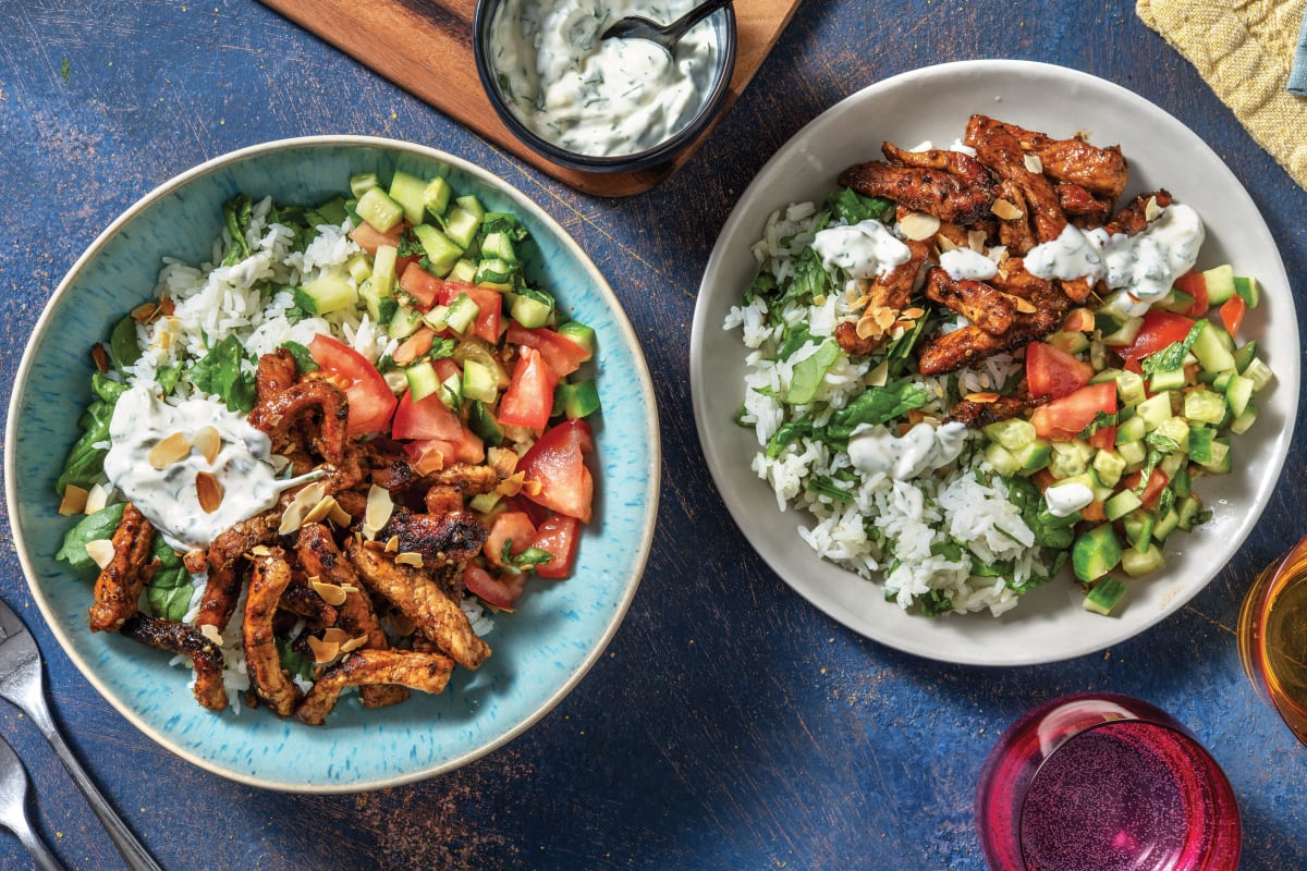 Moroccan Honey Pork & Garlic Rice Bowl