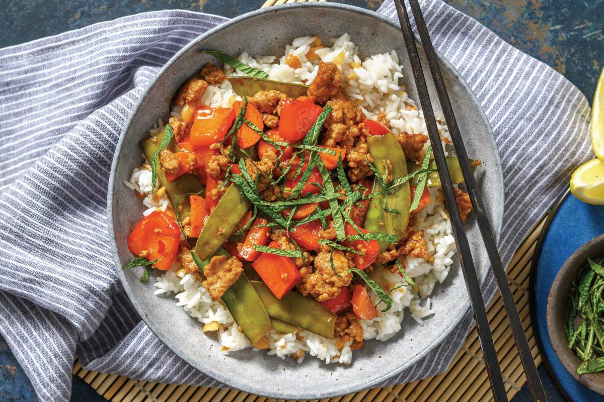 Thai Sweet Chilli & Mint Pork Bowl